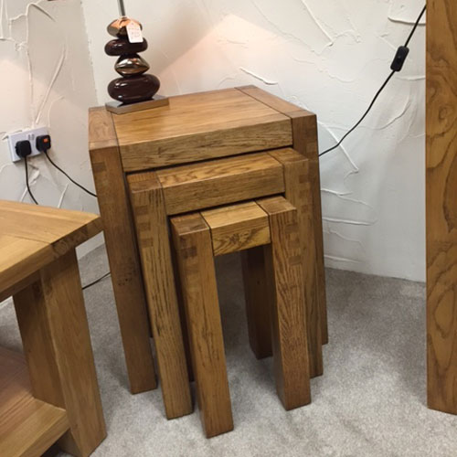 Montana Nest of 3 Tables in Nibbed Oak