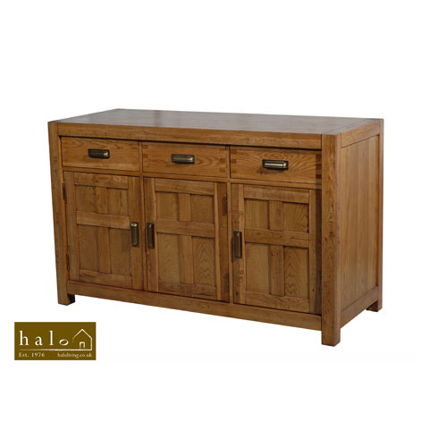 Montana 3 Door Sideboard in Nibbed Oak