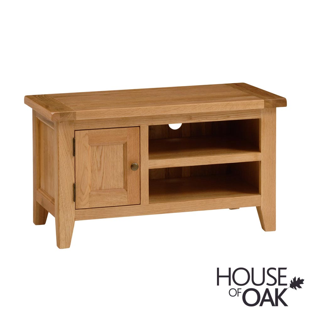 New Hampshire Oak Small 1 Door TV Unit