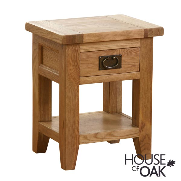New Hampshire Oak 1 Drawer Lamp (Bedside) Table