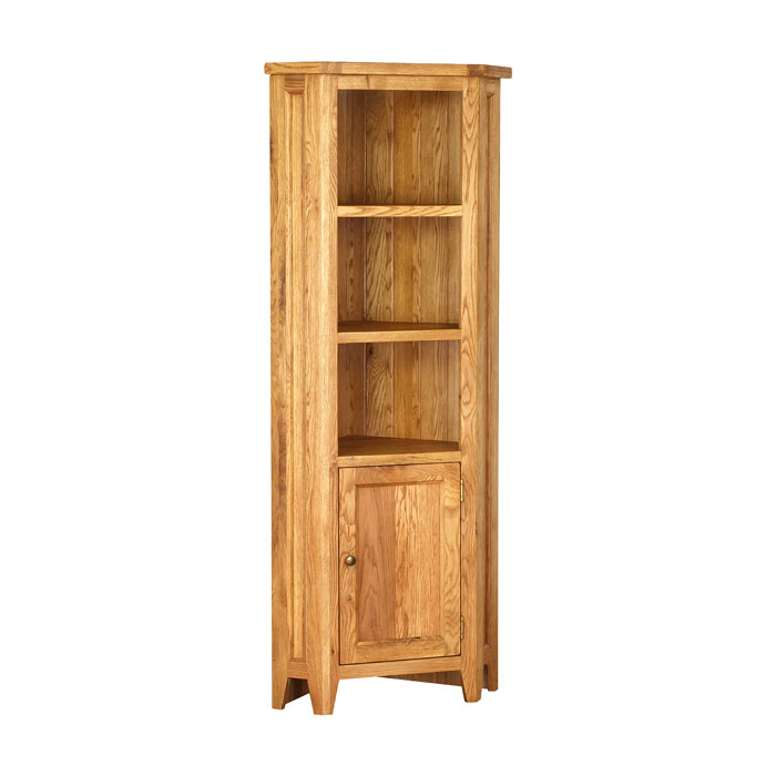 New Hampshire Oak Tall Corner Cabinet