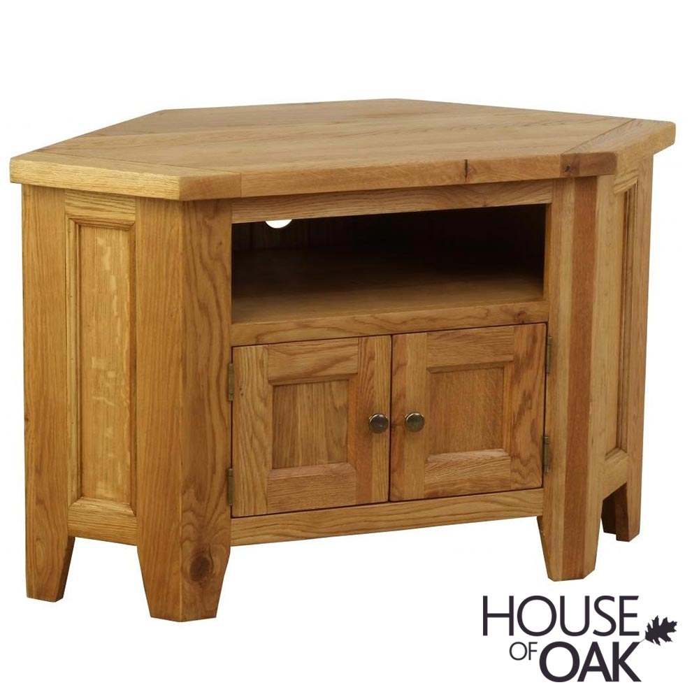 New Hampshire Oak Corner TV Cabinet (90 Degrees)
