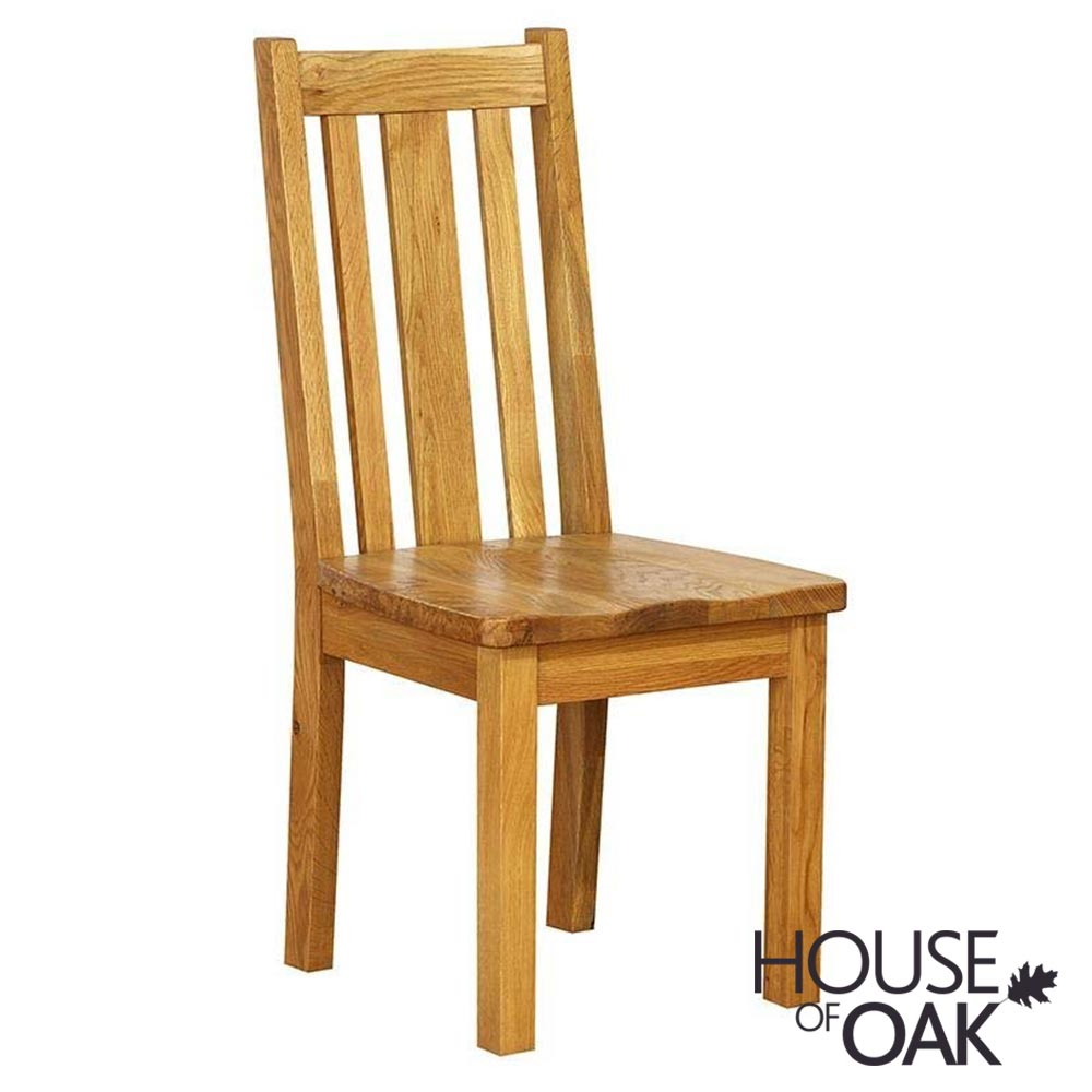 New Hampshire Slatted Back Chair with Wooden Seat