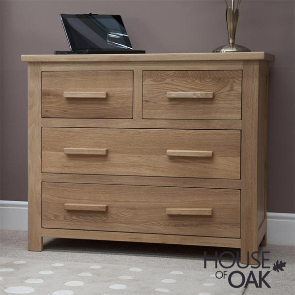 Opus Solid Oak 2+2 Chest of Drawers
