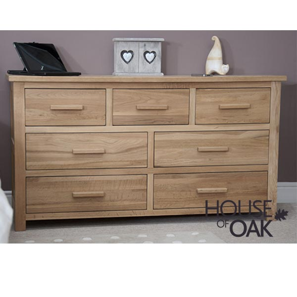 Opus Solid Oak 7 Drawer Multichest