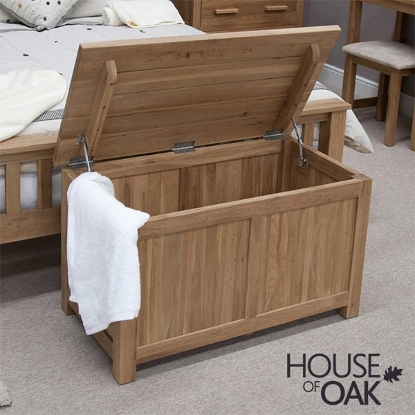 Opus Solid Oak Blanket Box