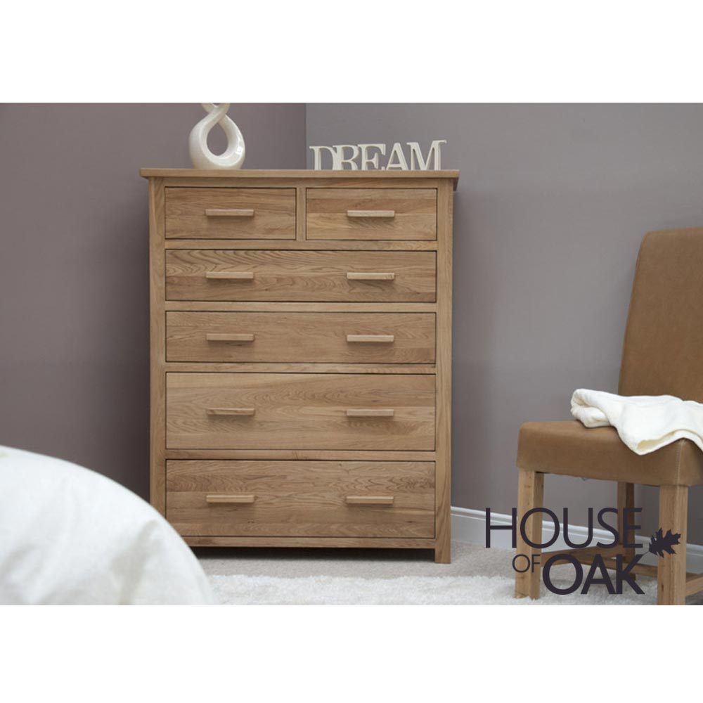 Opus Solid Oak Jumbo Chest of Drawers