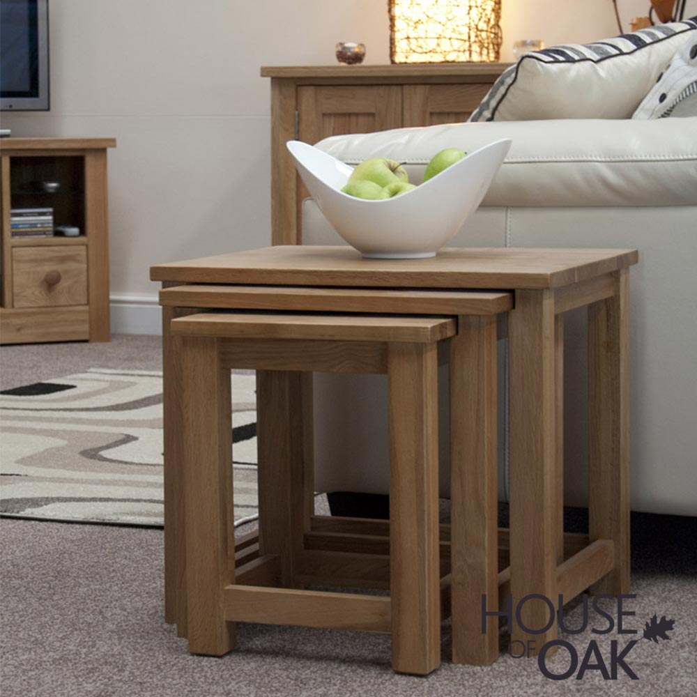 Opus Solid Oak Nest of Tables