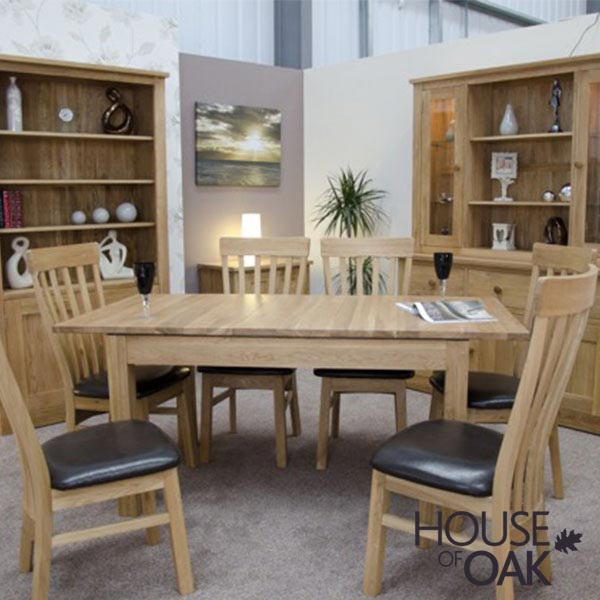 Opus Solid Oak Extending Table