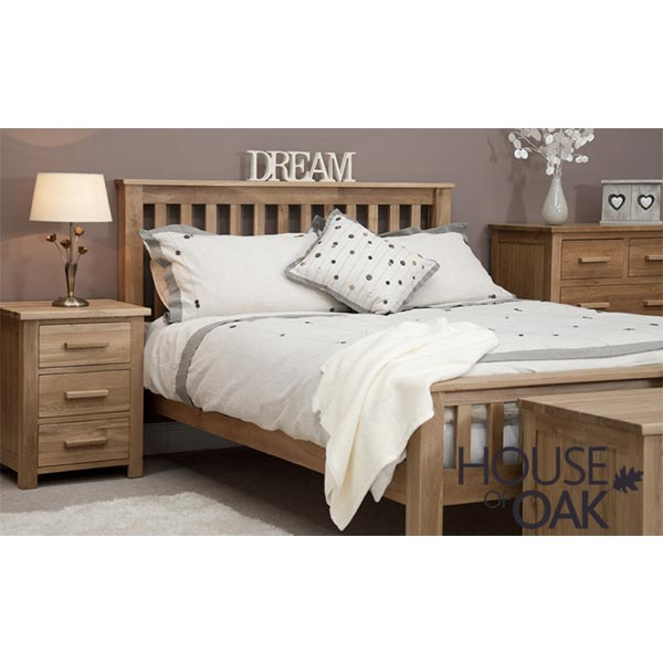 Opus Solid Oak 5FT King Size Bed