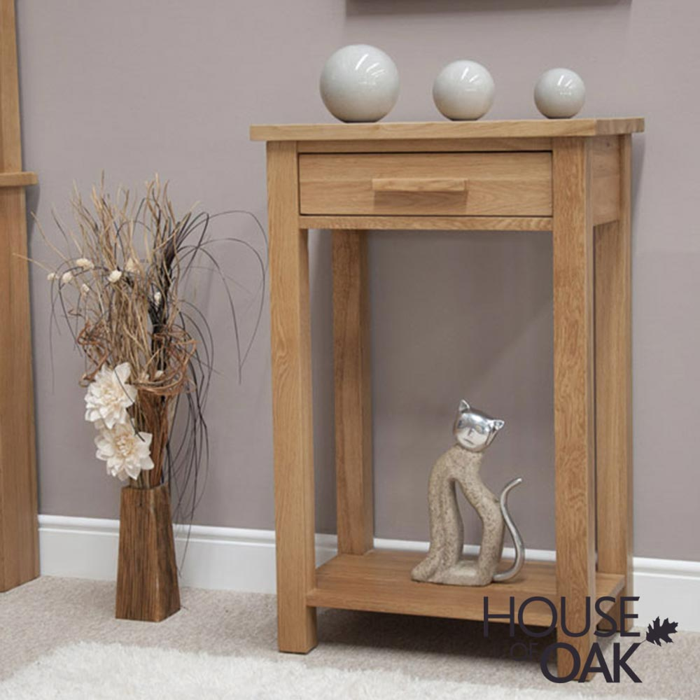 Opus Solid Oak Small Hall Table