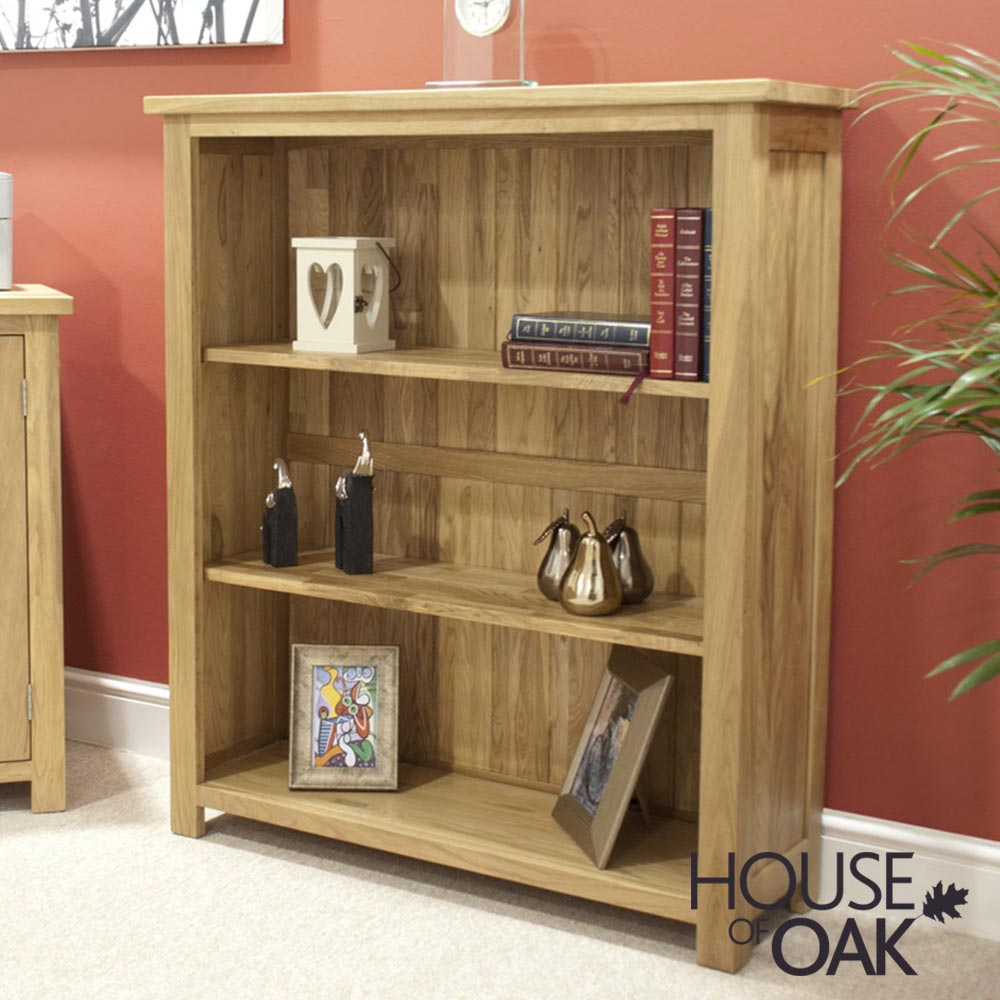 Opus Solid Oak Small Bookcase