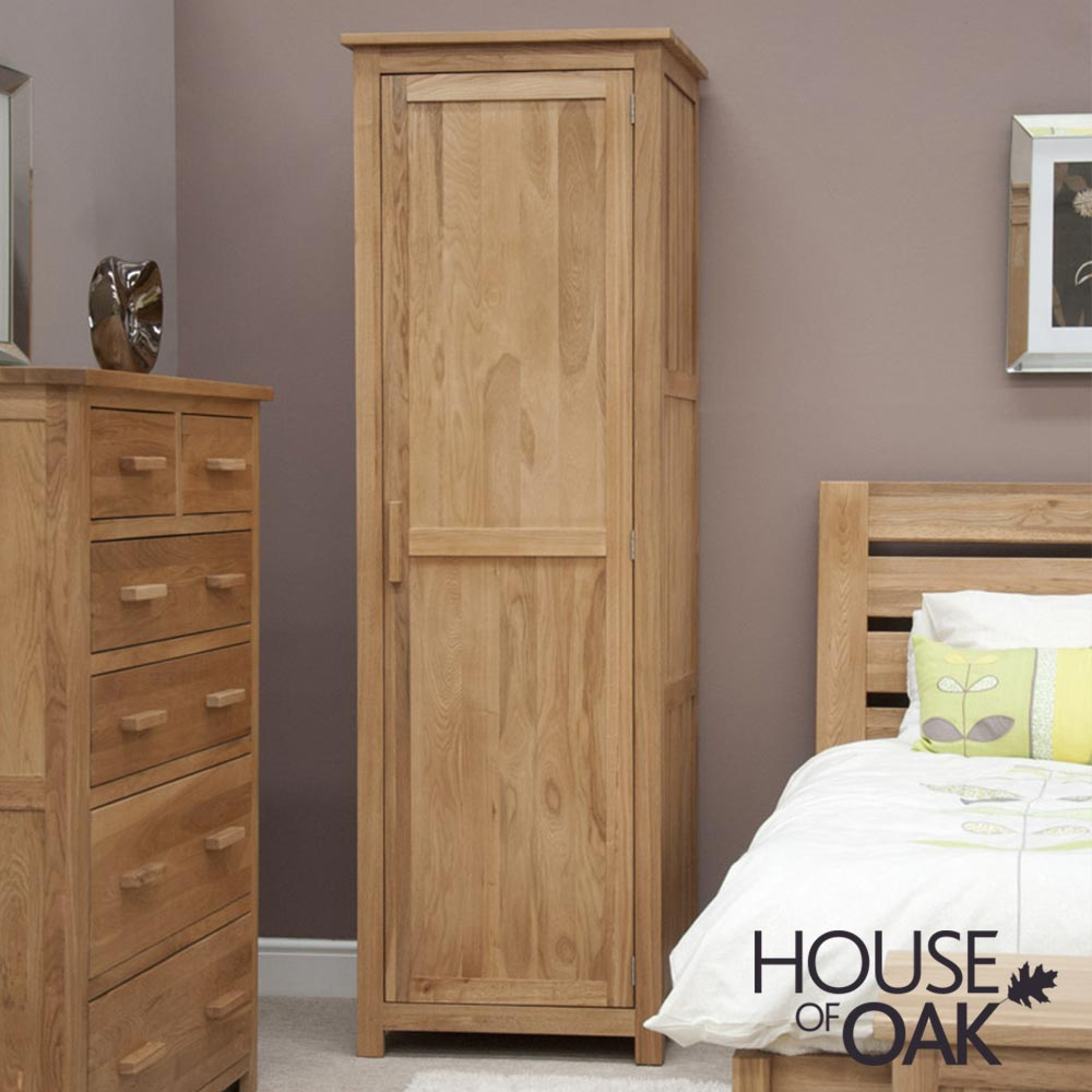 Opus Solid Oak Single Wardrobe