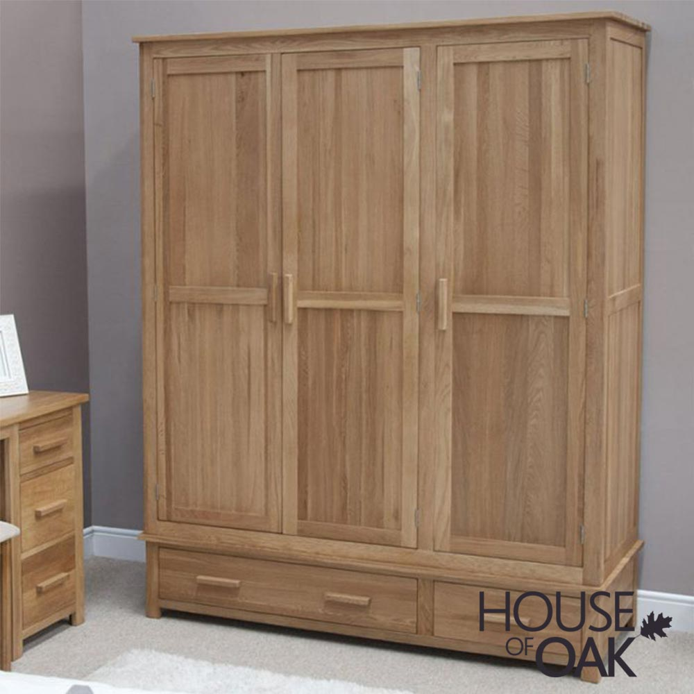Opus Solid Oak Triple Wardrobe
