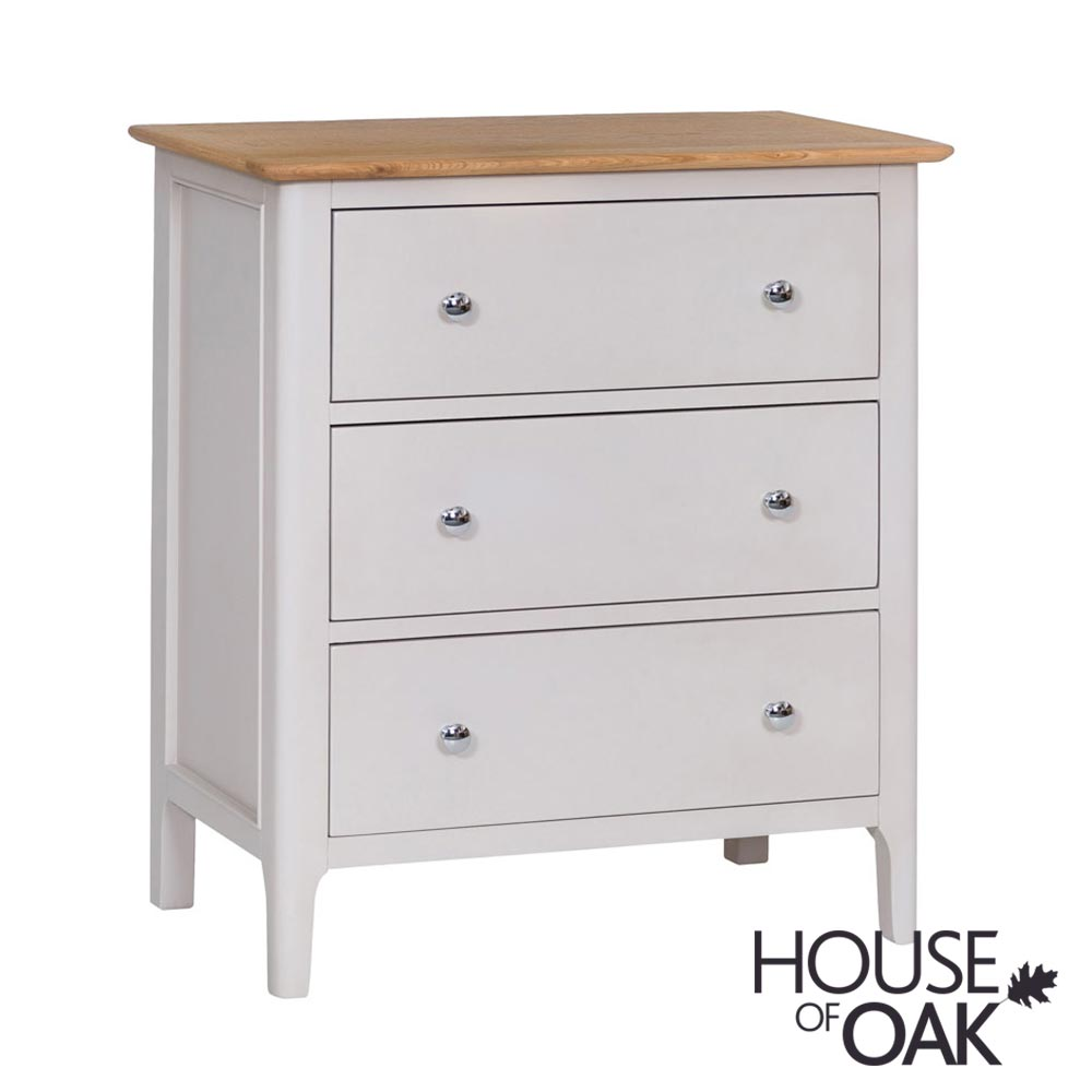 Oslo Oak 3 Drawer Chest in Dove Grey