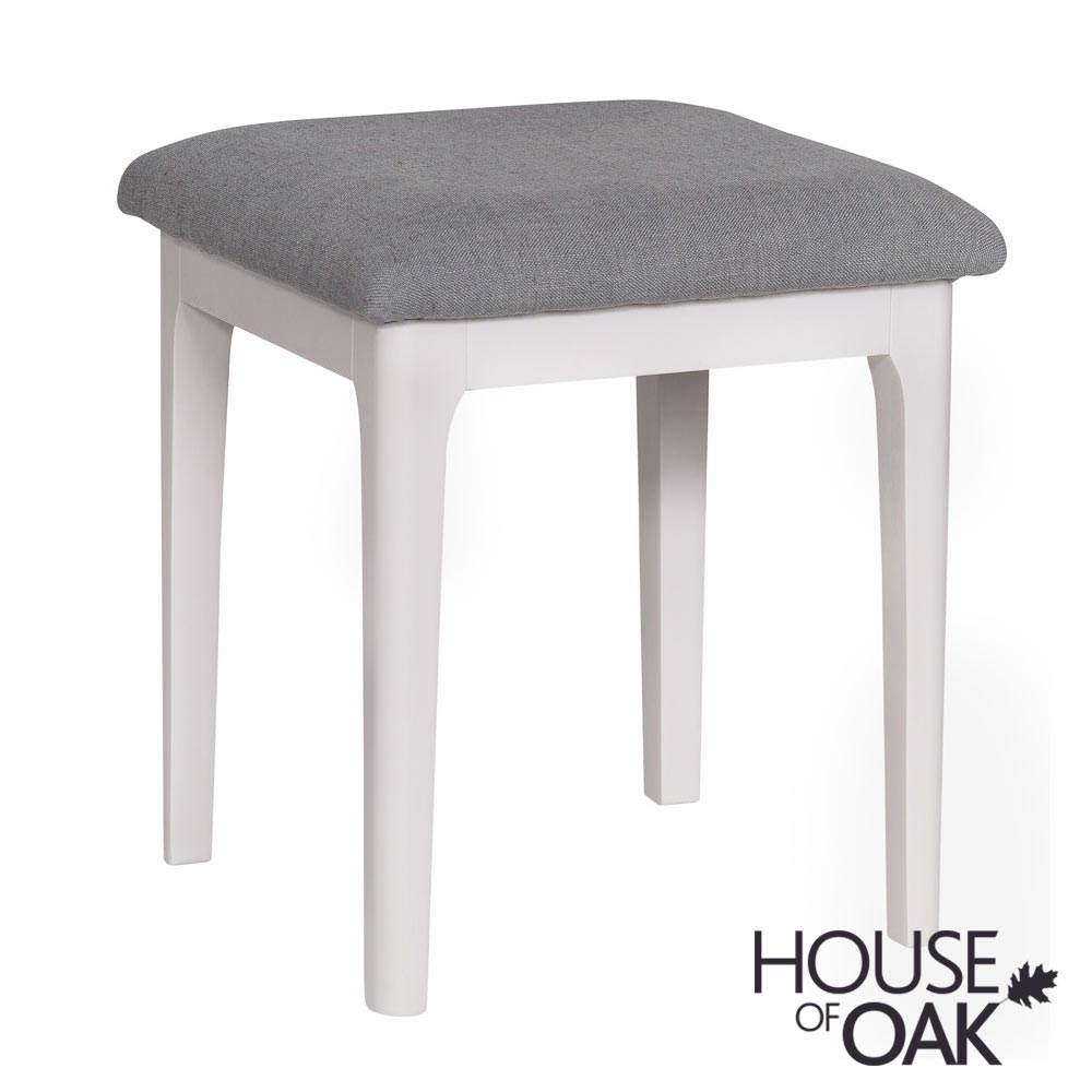 Oslo Oak Bedroom Stool in Dove Grey