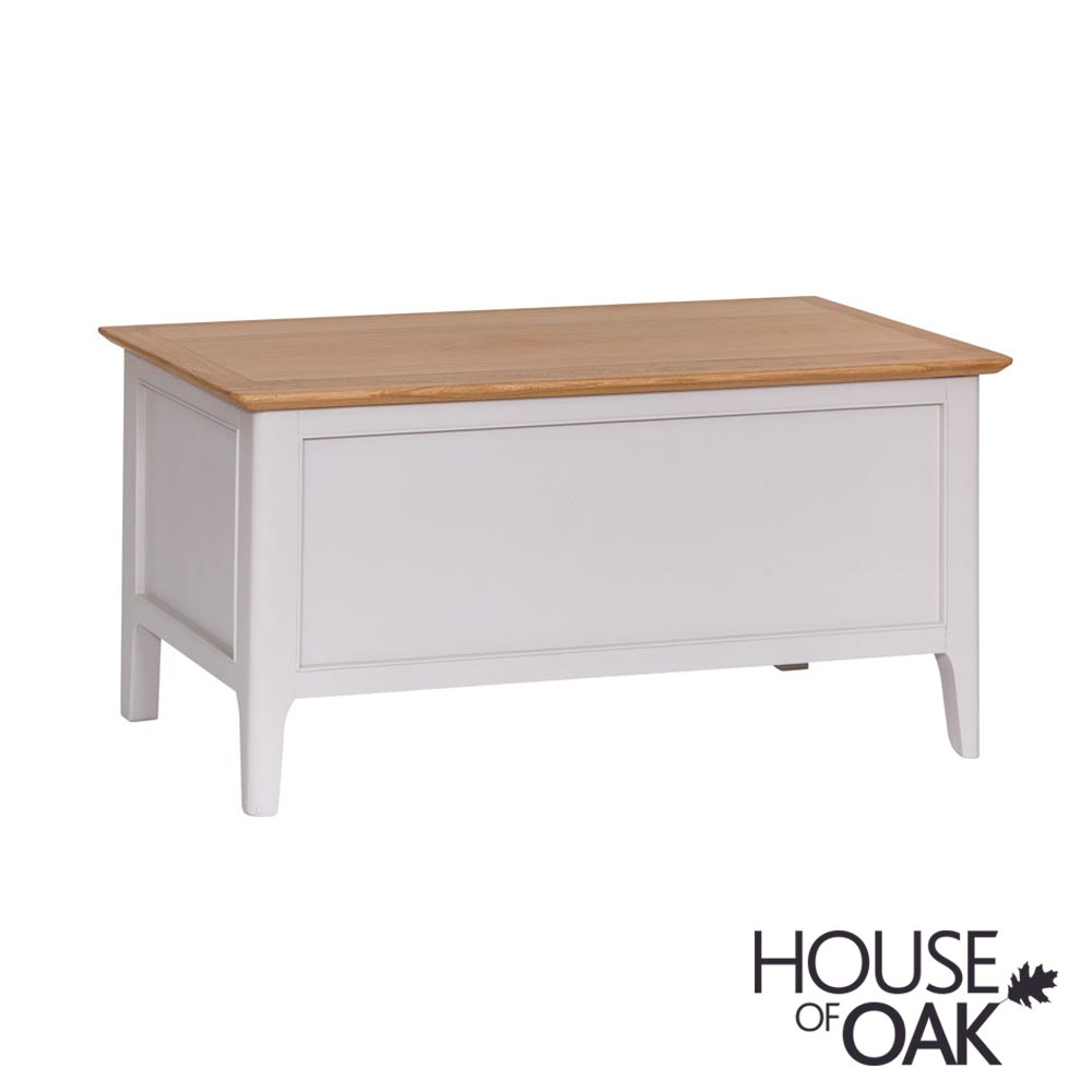 Oslo Oak Blanket Box in Dove Grey