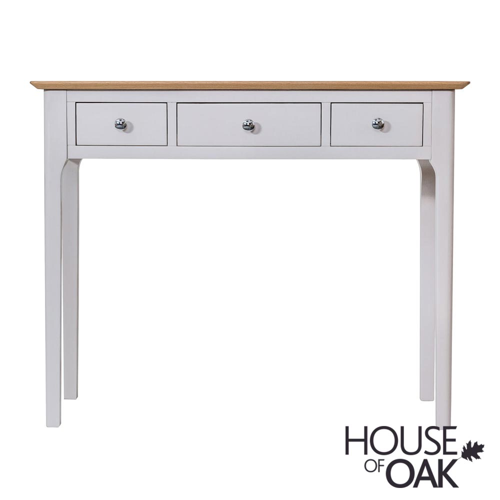 Oslo Oak Dressing Table in Dove Grey