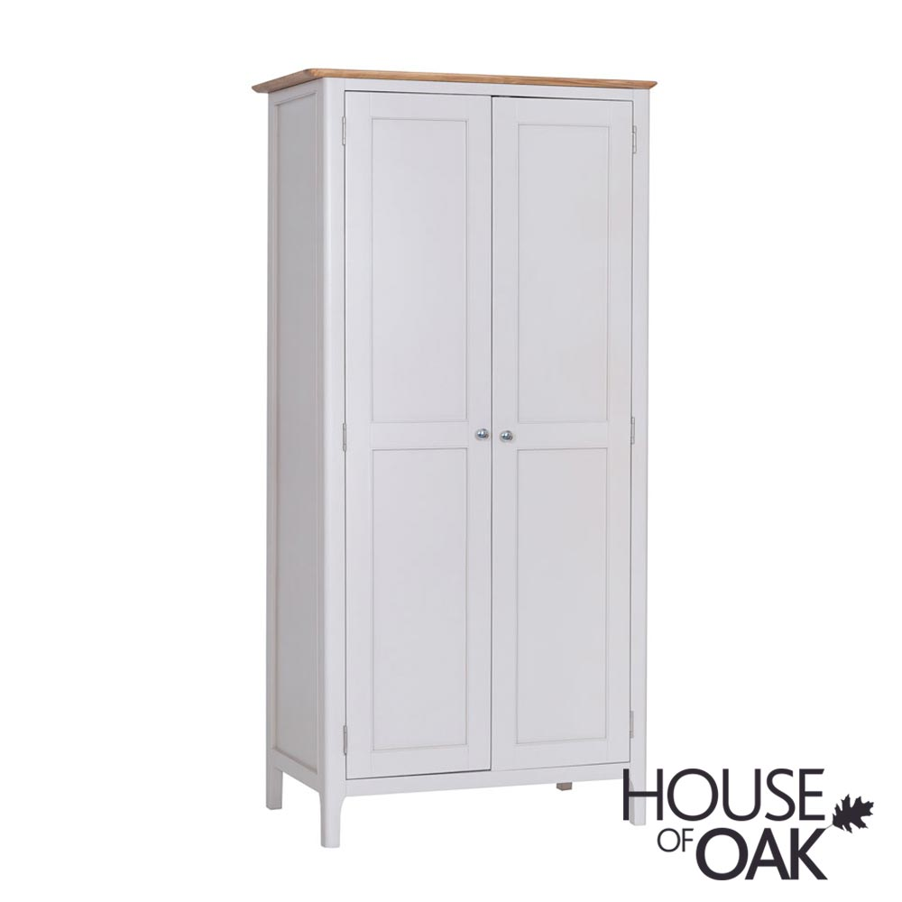 Oslo Oak Full Hanging Wardrobe in Dove Grey