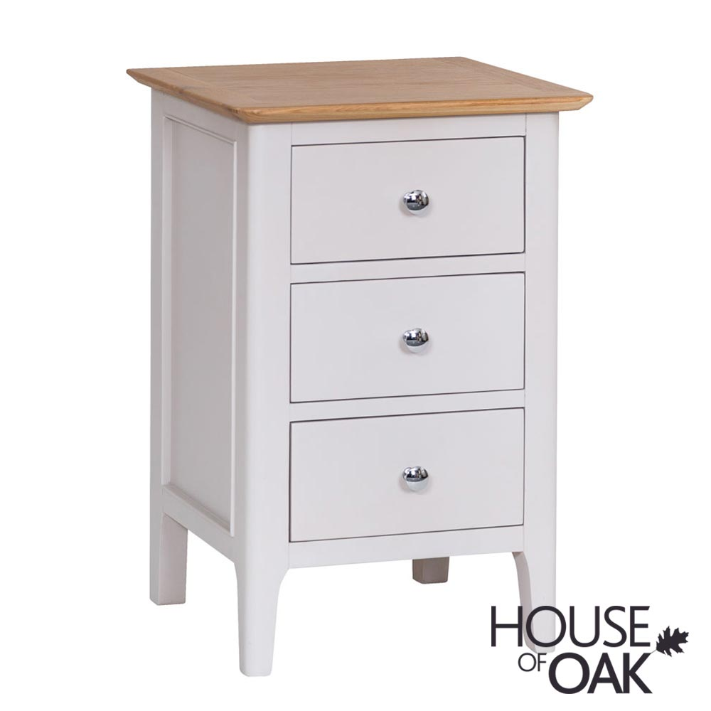 Oslo Oak Large Bedside Cabinet in Dove Grey