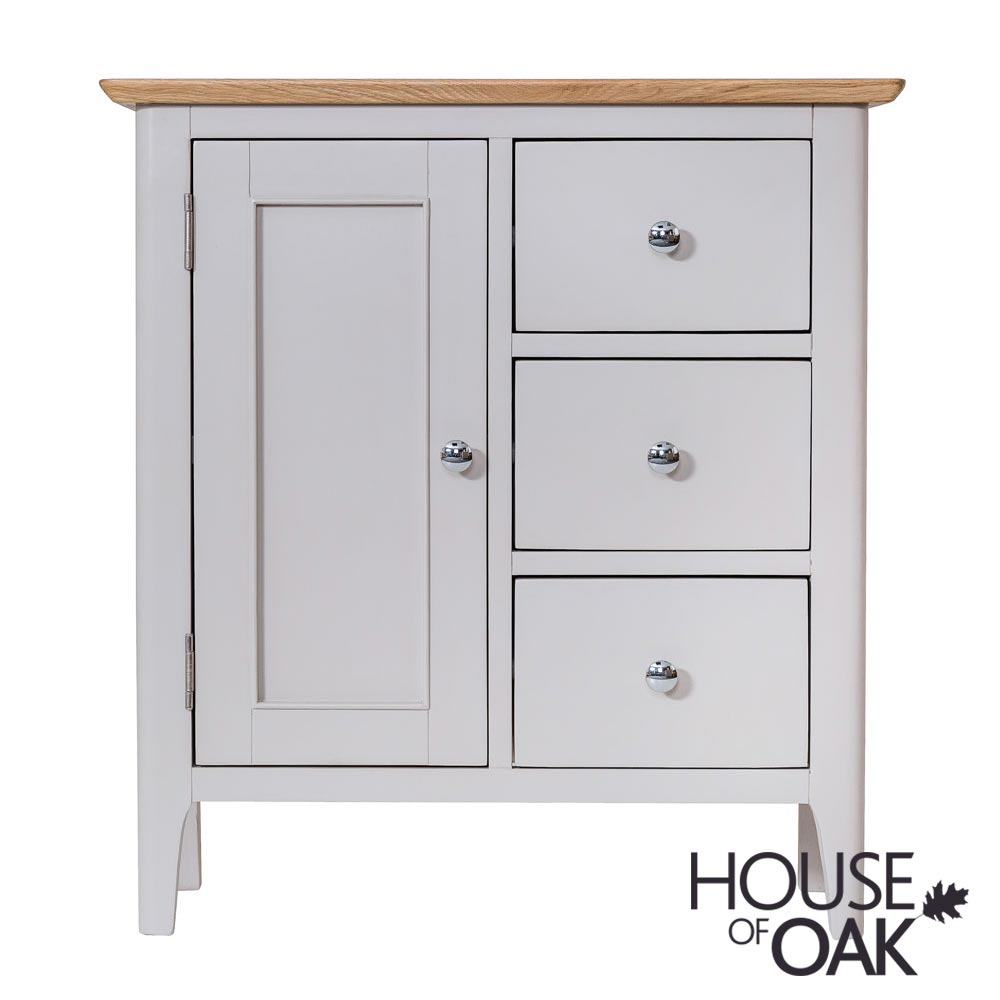 Oslo Oak Large Cupboard in Dove Grey