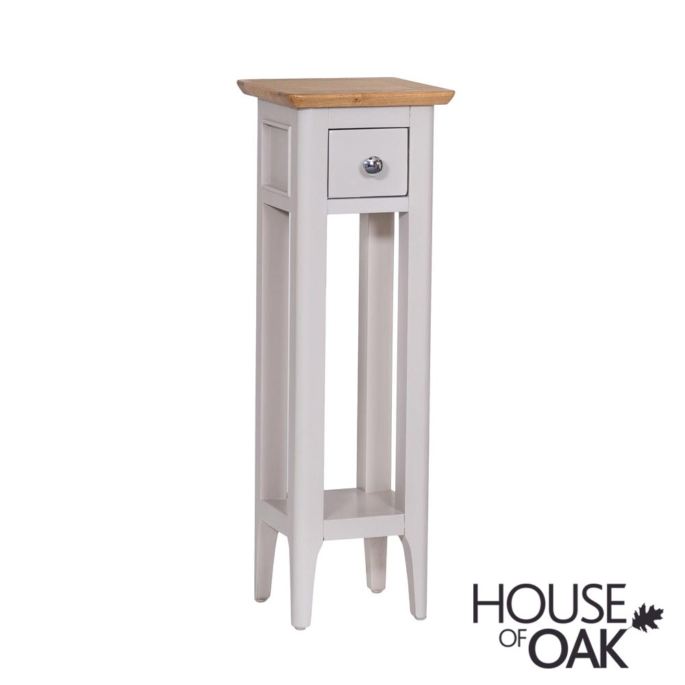Oslo Oak Plant Stand in Dove Grey