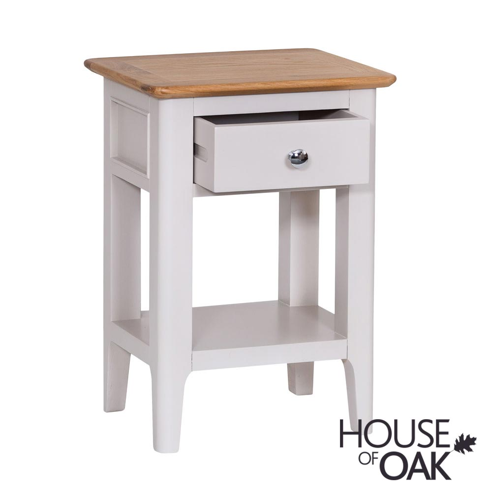 Oslo Oak Side Table in Dove Grey