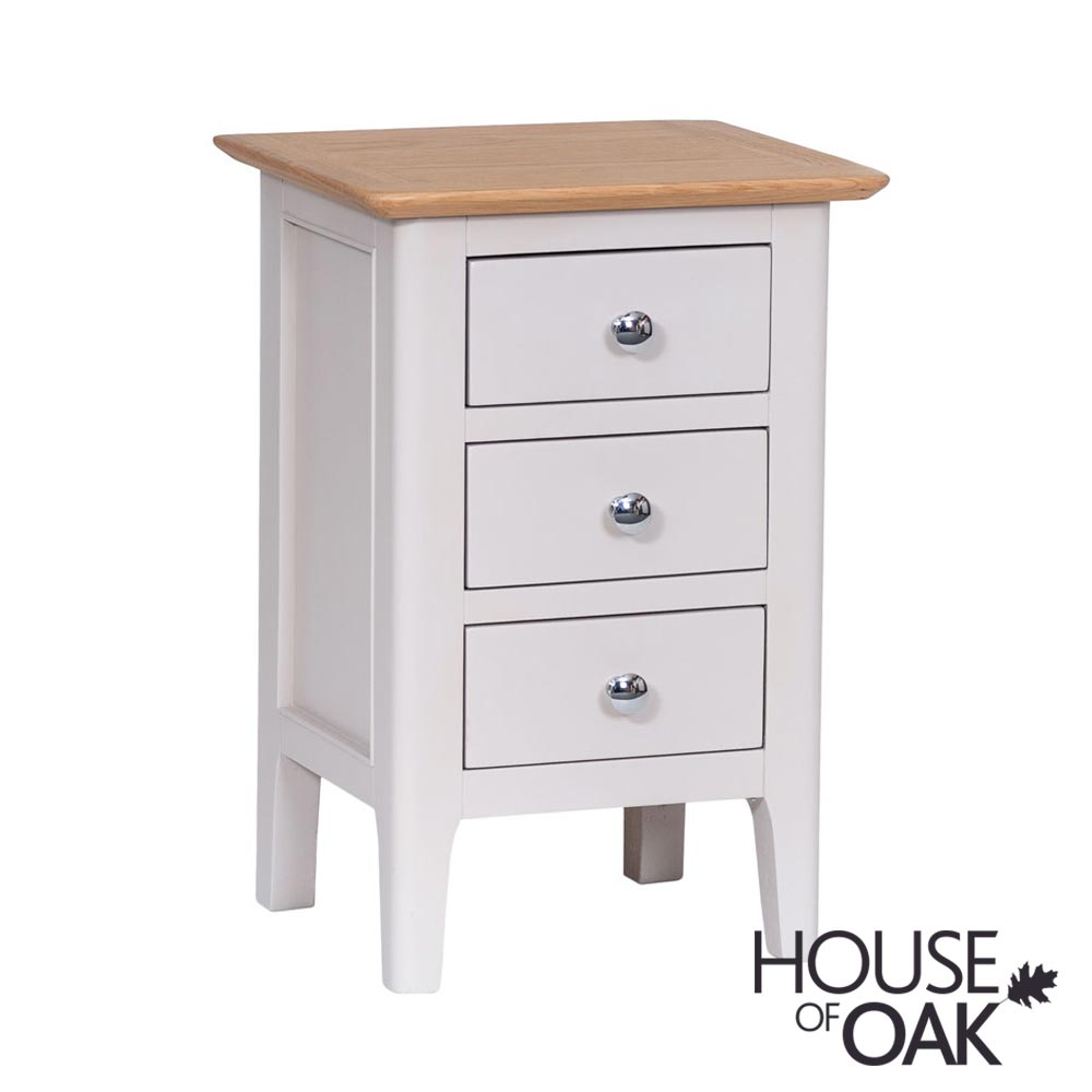 Oslo Oak Small Bedside Cabinet in Dove Grey