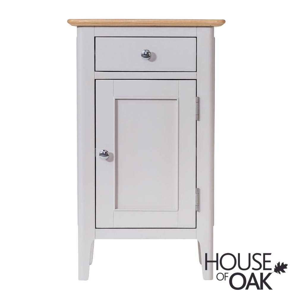 Oslo Oak Small Cupboard in Dove Grey