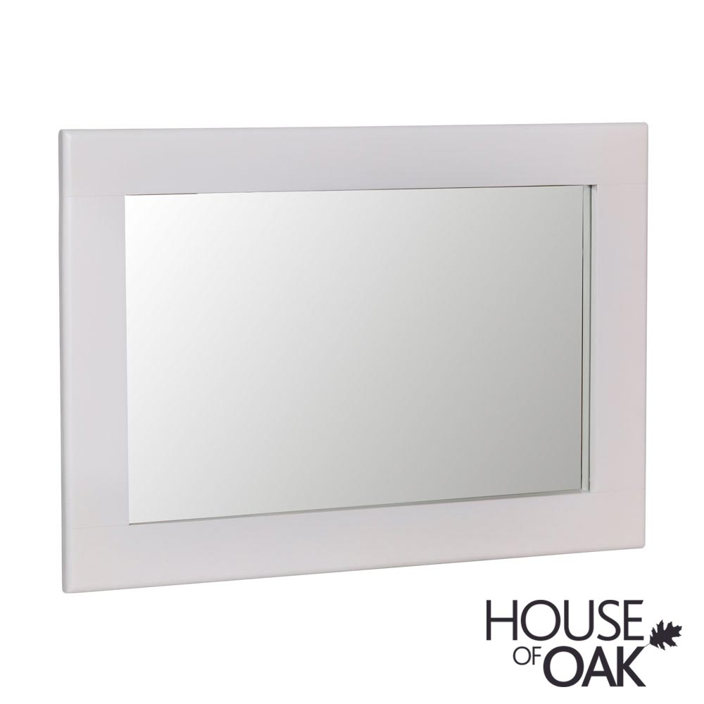 Oslo Oak Small Wall Mirror in Dove Grey