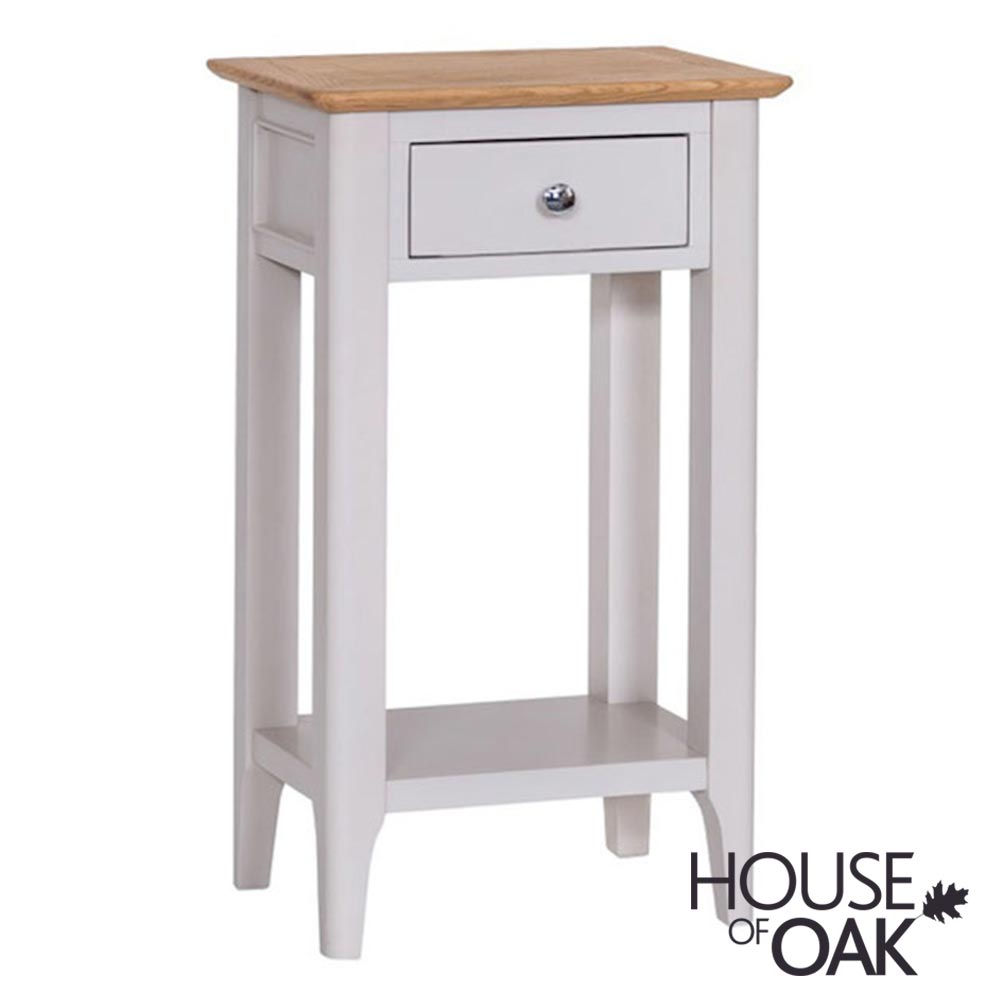 Oslo Oak Telephone Table in Dove Grey
