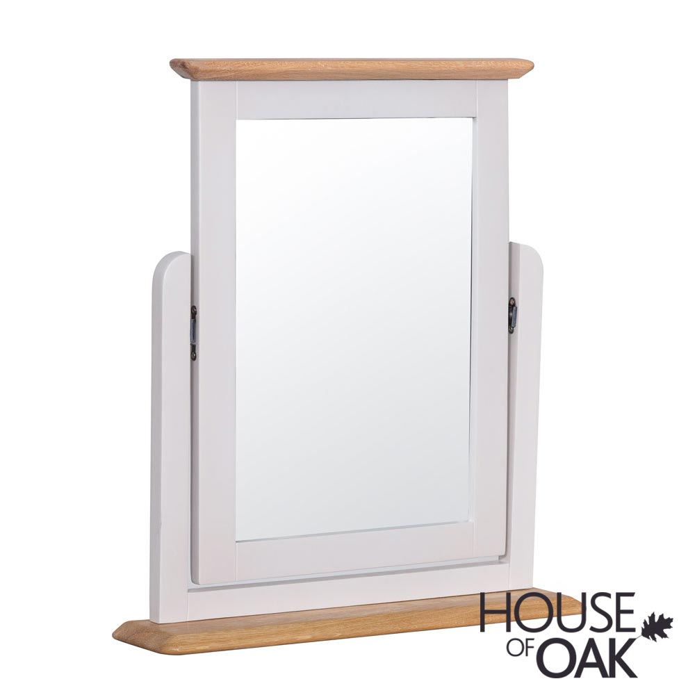 Oslo Oak Trinket Mirror in Dove Grey