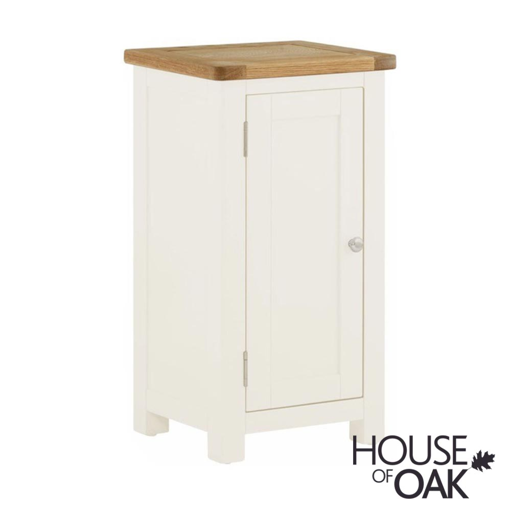 Portman Painted 1 Door Cabinet in White