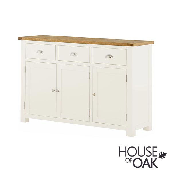 Portman Painted 3 Door 3 Drawer Sideboard in White