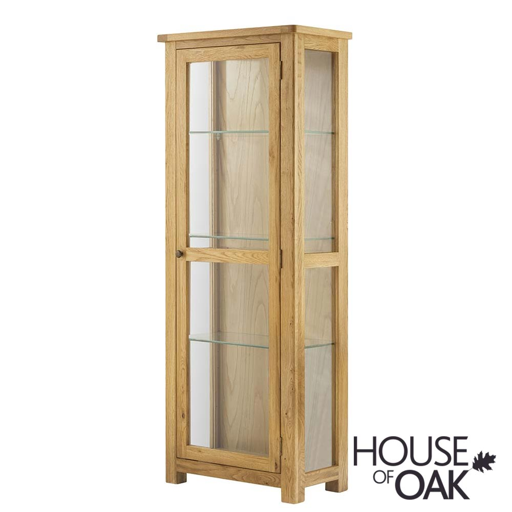 Portman Glass Display Cabinet in Oak