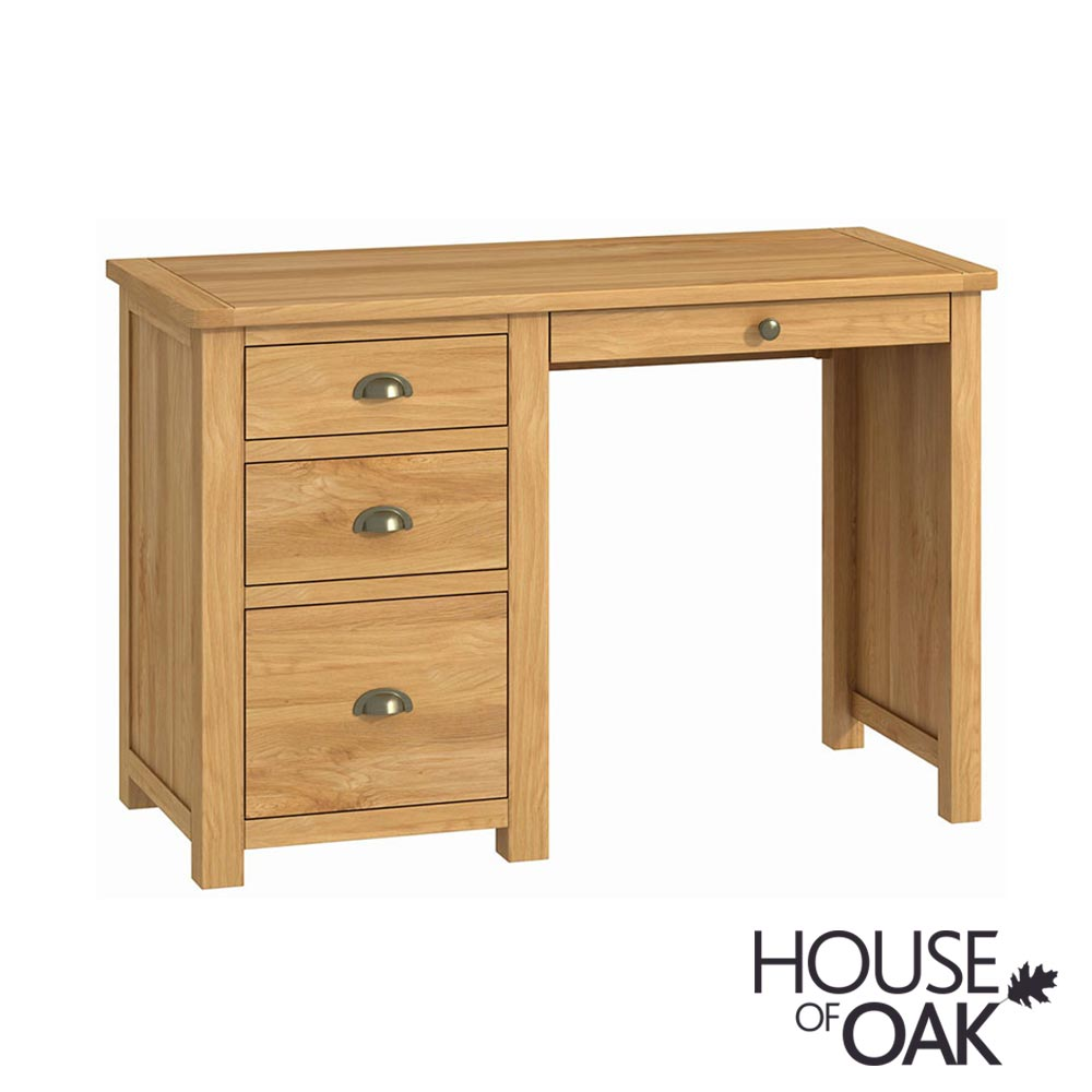 Portman Office Single Pedestal Desk in Oak