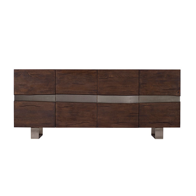 Quadra Oak 4 Door Sideboard