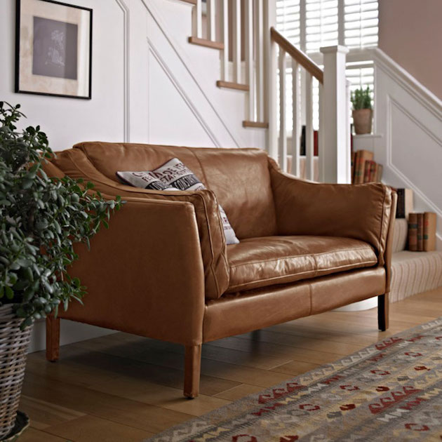 Reggio Highback 2 Seater Sofa in Riders Nut