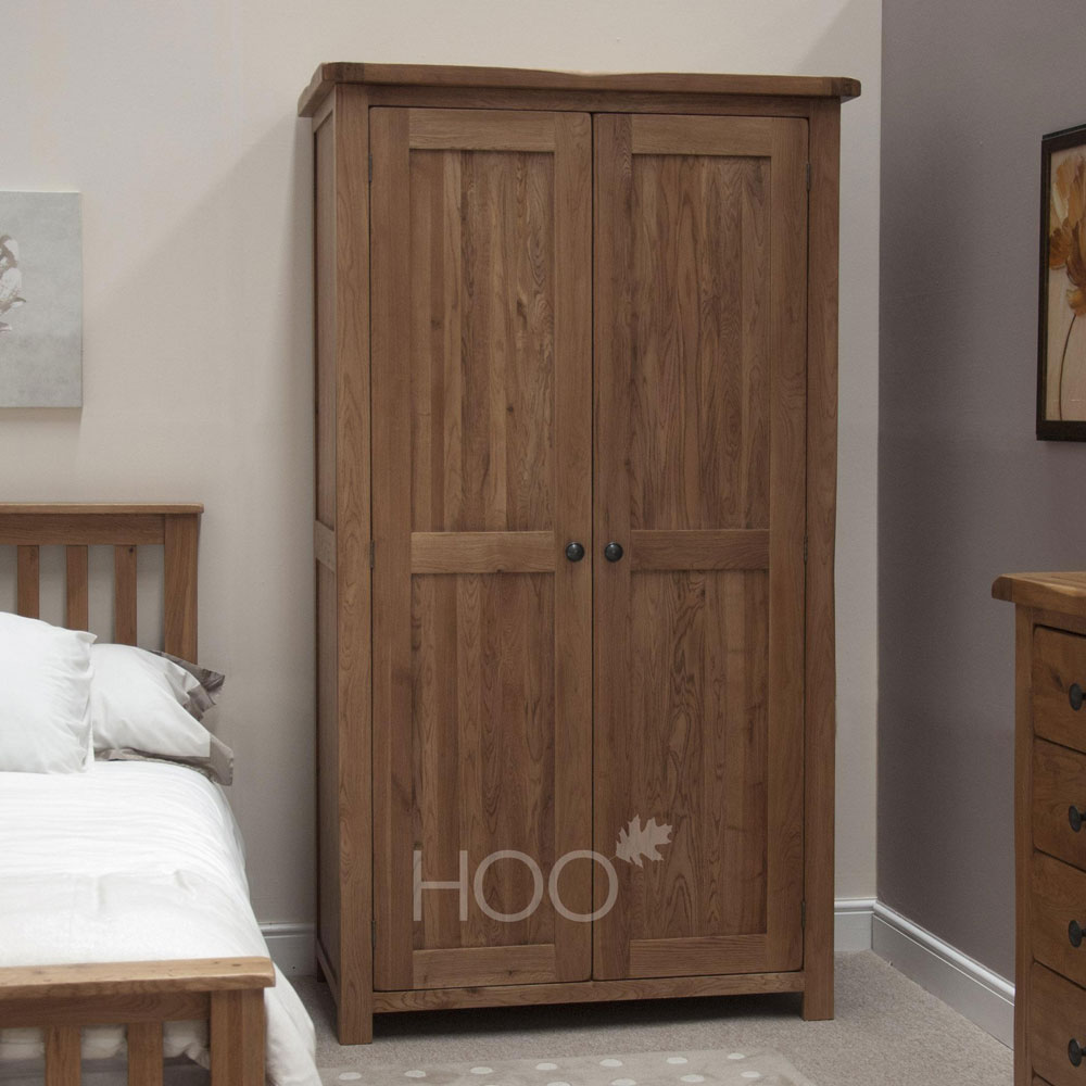 Rustic Oak Ladies Wardrobe