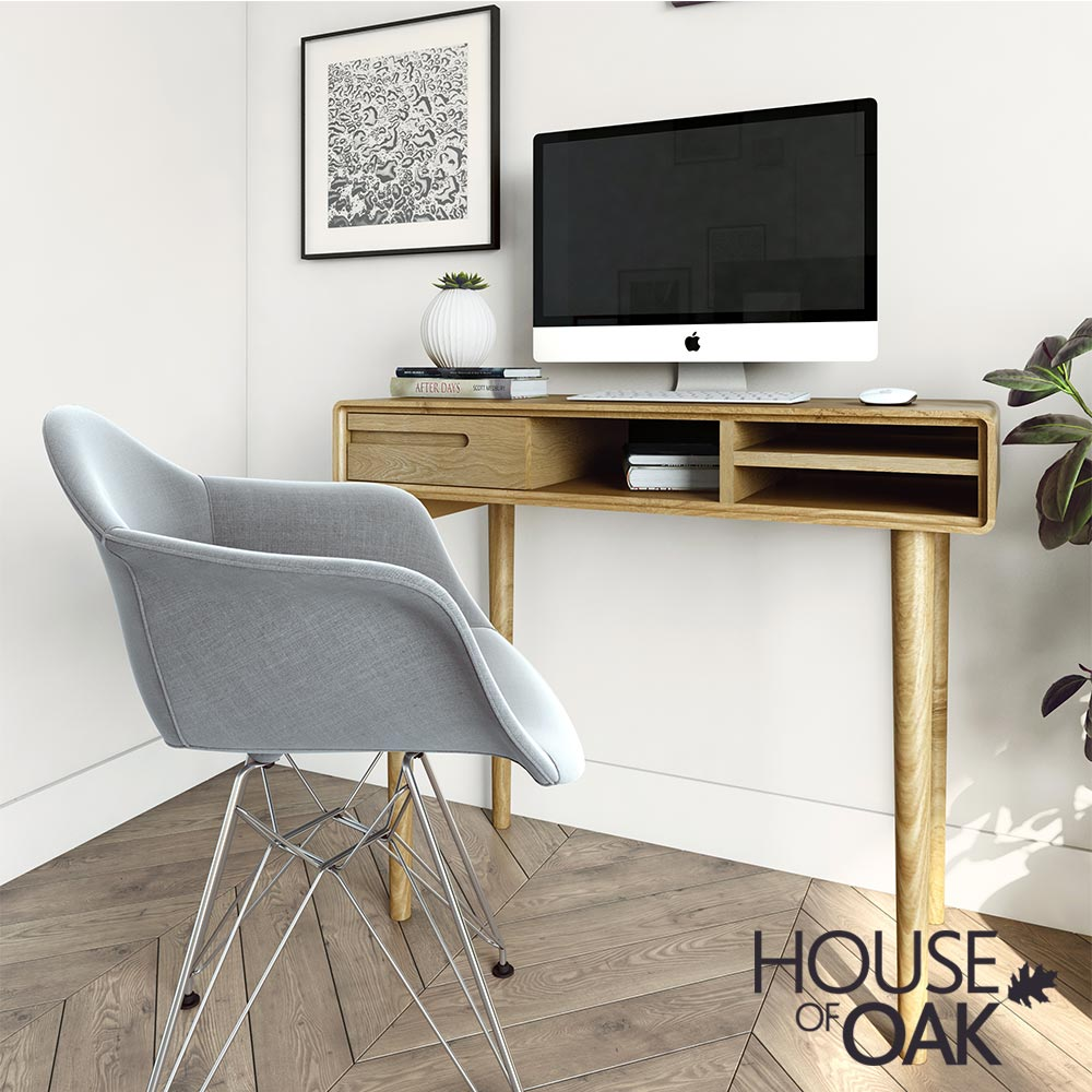 Scandic Oak - Small Computer Desk