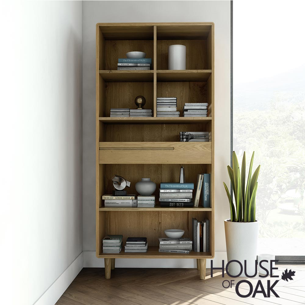 Scandic Oak - Large Bookcase