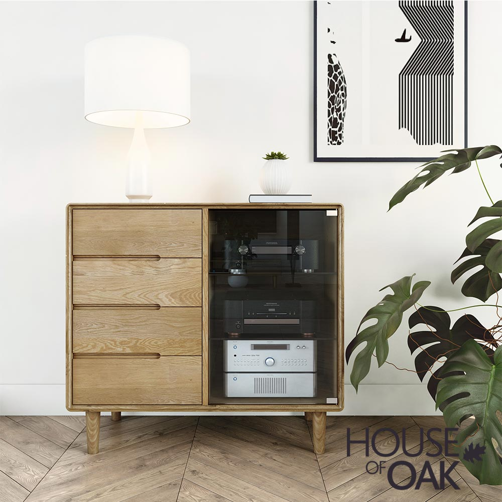 Scandic Oak - Small Glazed Chest