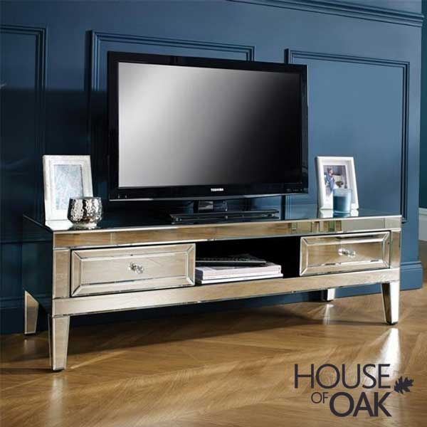 Seville Mirrored TV Cabinet