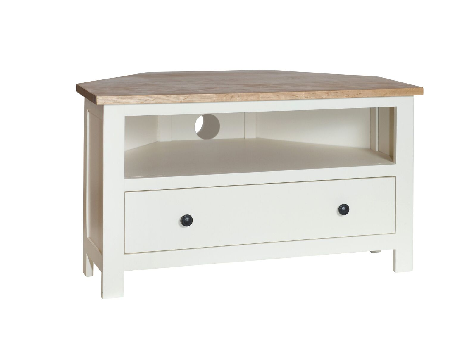Simply Oak in Cream Corner 1 Drawer TV Cabinet