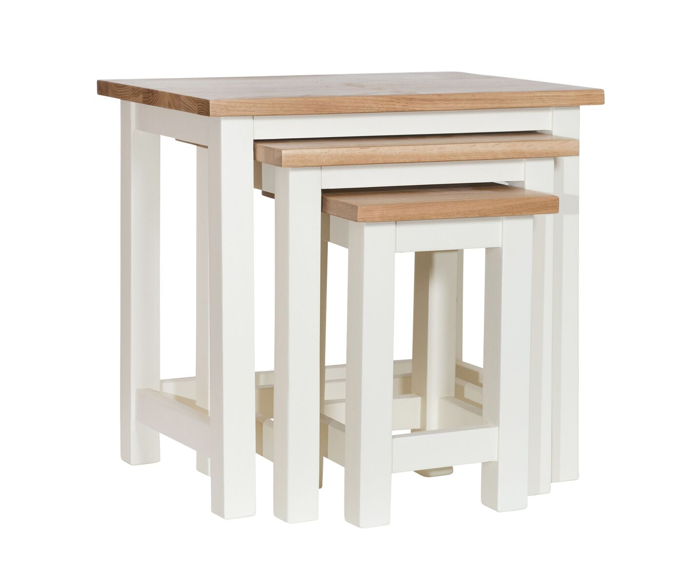 Simply Oak in Cream Nest of Tables