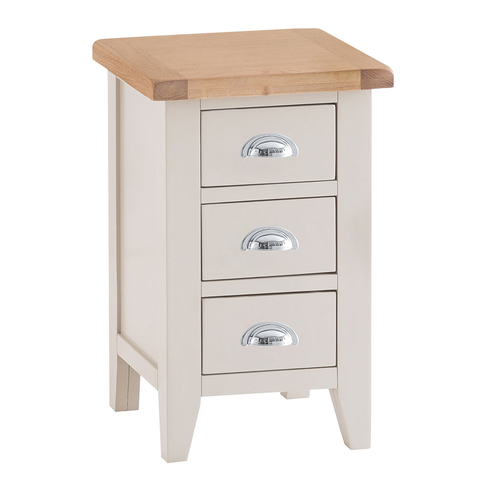 Chester Grey Painted Small Bedside Cabinet