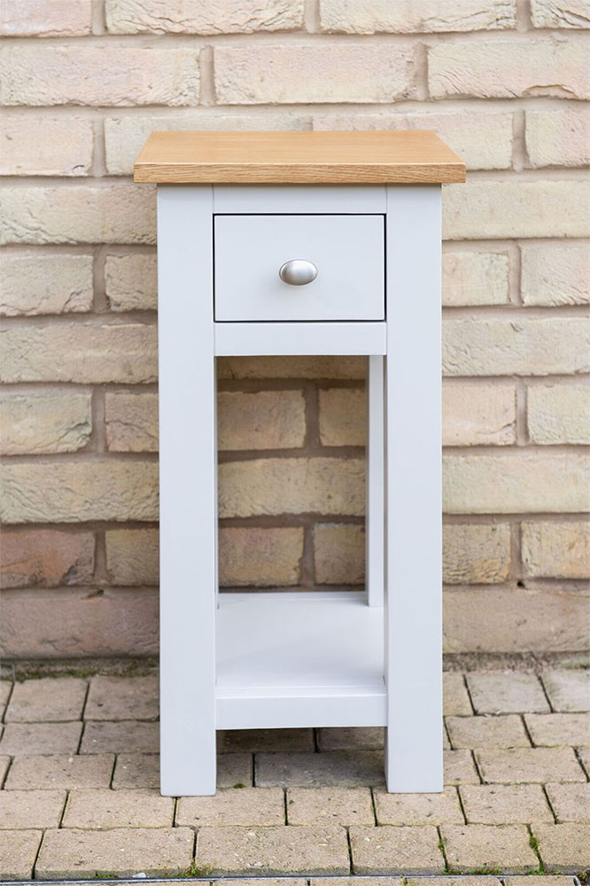 Simply Oak Small Bedside in Grey Painted