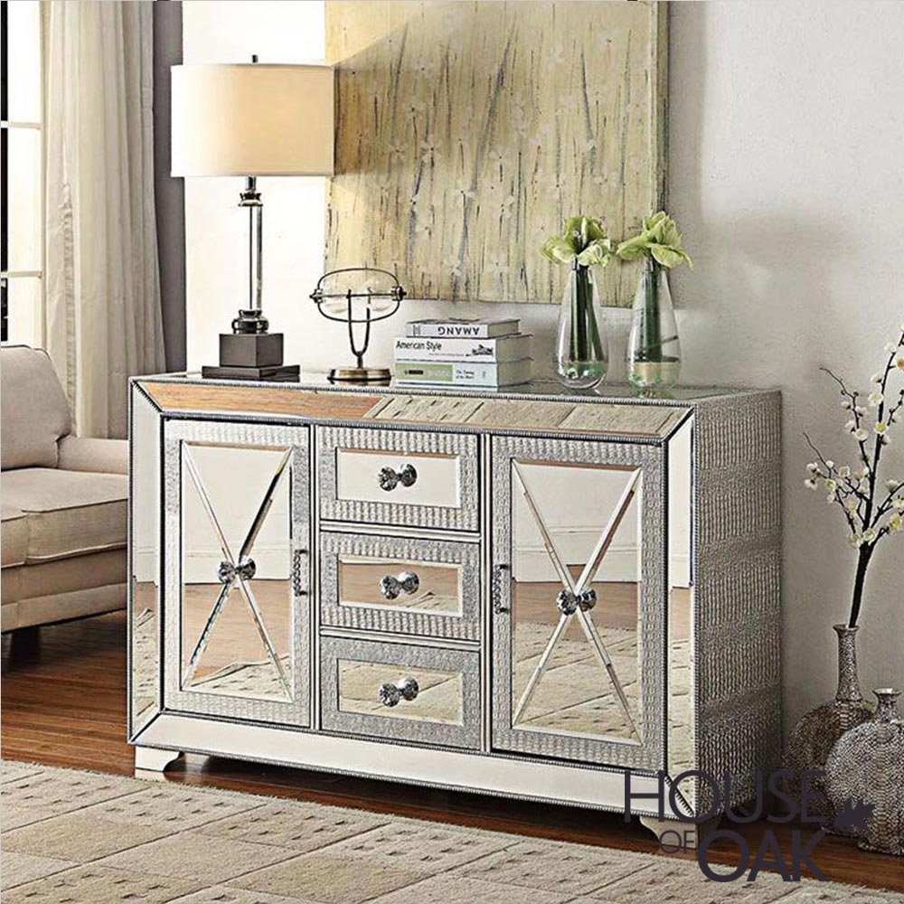 Mayfair Mirrored 3 Drawer Sideboard
