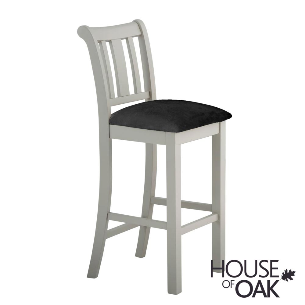 Portman Painted Bar Stool in Stone Grey