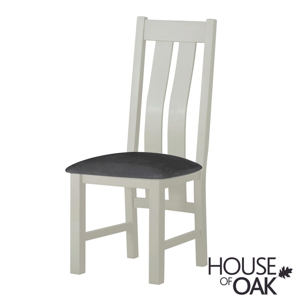 Portman Painted Dining Chair in Stone Grey